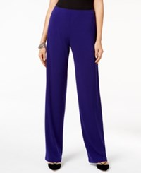 Alfani Knit Wide Leg Trousers Only At Macy's Alf French Plum