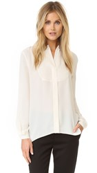 Elizabeth And James Landon Bib Blouse Ivory
