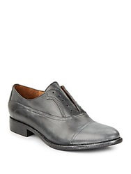 Kenneth Cole Ciao Ciao Leather Slip On Oxfords Black