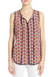 Women's Pleione Piped Print Sleeveless Top