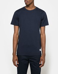 Norse Projects Niels Basic Ss Tee In Navy