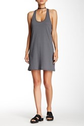 American Apparel Racerback Sleeveless Dress Gray