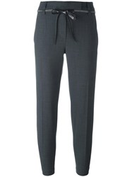 Brunello Cucinelli Tailored Cropped Trousers Grey
