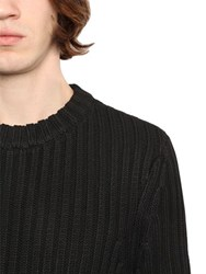 Denham Jeans Wool And Cotton Blend Rib Knit Sweater