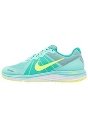 Nike Performance Dual Fusion X 2 Cushioned Running Shoes Hyper Turquoise Volt Clear Jade White Reflect Silver Green