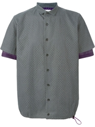 Kolor Short Sleeve Perforated Shirt Grey