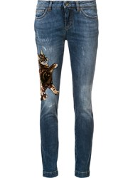 Dolce And Gabbana Cat Skinny Jeans Blue