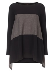 Phase Eight Caroline Colour Block Top Black