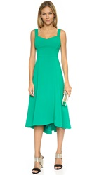 Black Halo Capri High Low Dress Agave Green