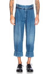 J.W.Anderson J.W. Anderson Pleat Front Baggy Trousers In Blue