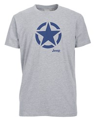 Jeep Star Graphic T Shirt Grey