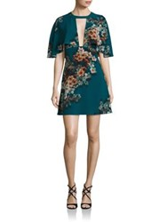 Abs By Allen Schwartz Cutout Cape Dress Teal