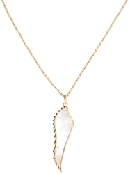 Garrard Yellow Gold Wing Pendant Necklace Metallic