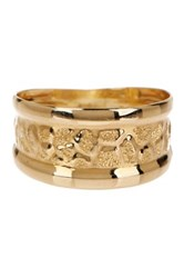 Candela 10K Yellow Gold Animal Print Band Metallic