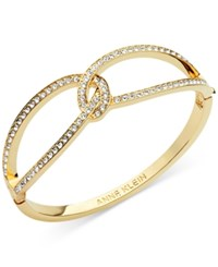 Anne Klein Interlocking Pave Hinged Bangle Bracelet Only At Macy's Gold