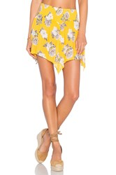 Minkpink Spread Like Wildflowers Skirt Yellow
