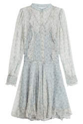 Zadig And Voltaire Printed Silk Dress Blue