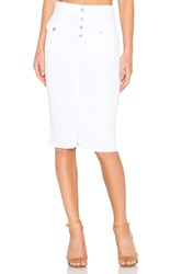 7 For All Mankind Pencil Skirt White