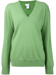 Tomas Maier V Neck Sweater Green