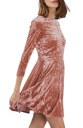 Topshop Women's Crushed Velvet Dress