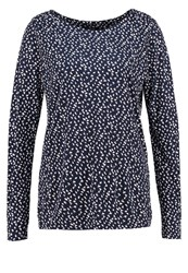 Opus Super Flake Long Sleeved Top Dark Blue