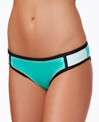 Bar Iii Whip It Good Colorblocked Hipster Bikini Bottoms Only At Macy's Women's Swimsuit Jade