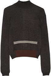 Rick Owens Mohair And Silk Blend Turtleneck Sweater Gray
