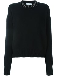 Giada Benincasa Embellished Neck Jumper Black