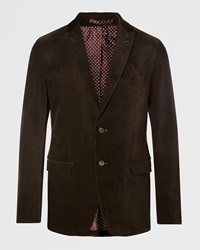 Jigsaw Tailored Corduroy Two Button Jacket Lead