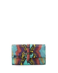 Elaine Turner Designs Elaine Turner Blaire Embossed Leather Crossbody Bag Carnival Python