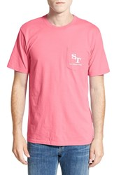 Men's Southern Tide 'Weathered Skipjack' Graphic T Shirt Pink Coral