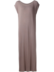Liwan Side Slit Long Dress Brown