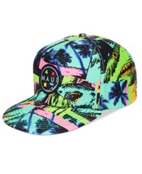 Maui And Sons Men's Sharks Wild Graphic Print Hat Green