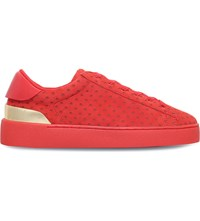 Nine West Palyla Suede Trainers Red