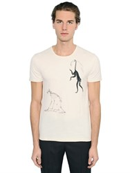 Alexander Mcqueen Monkeys Organic Cotton Jersey T Shirt