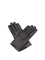 Gucci Grained Leather Gloves Black