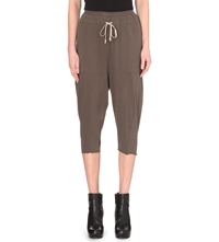Drkshdw Cropped Cotton Jersey Trousers Darkdust