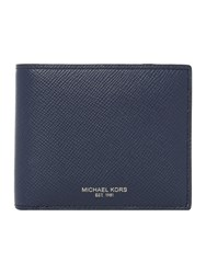 Michael Kors Harrison Crossgrain Coin Pocket Wallet Navy