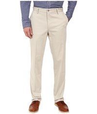Dockers Signature Khaki D2 Straight Fit Flat Front Cloud Stretch Men's Casual Pants White