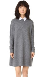 Cinq A Sept Swing Dress Charcoal White