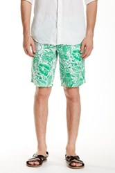 Ganesh Regular Fit Linen Short Green