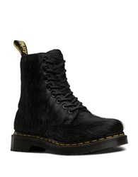 Dr. Martens Peloso Hair Calf Lace Up Booties Black