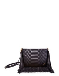 Brian Atwood Landon Leather Crossbody Black
