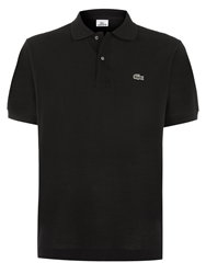 Lacoste Pique Men S Short Sleeve Polo Black