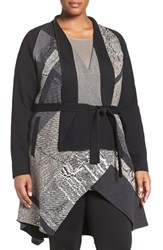 Nic Zoe Plus Size Women's Pyramid Twirl Belted Knit Jacket