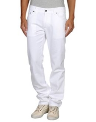 Salvatore Ferragamo Denim Pants White