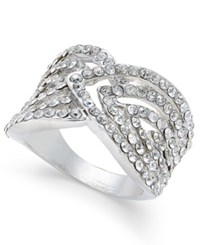 Inc International Concepts Silver Tone Pave Crystal Galaxy Ring Only At Macy's