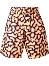 Jeremy Scott Fuzzy Print Shorts Multicolour