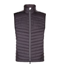 Hugo Boss Green Vakovo Quilted Gilet Male Black