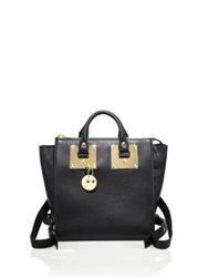 Sophie Hulme Small Holmes Leather Backpack Black